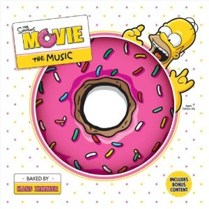 The Simpsons movie soundtrack (album cover)