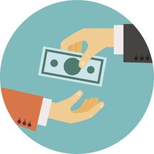 hand giving money illustration - neyro2008 | iStockphoto