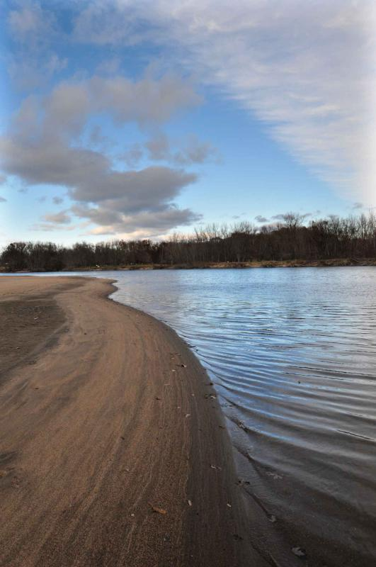 KEVIN GUTTING Rainbow Beach Conservation Area on the Connecticut River where Northampton currently allows hunting. - KEVIN GUTTING | Daily Hampshire Gazette
