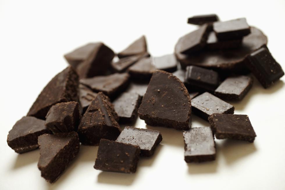Chocolate pieces, close-up - Jack Hollingsworth   Photodisc