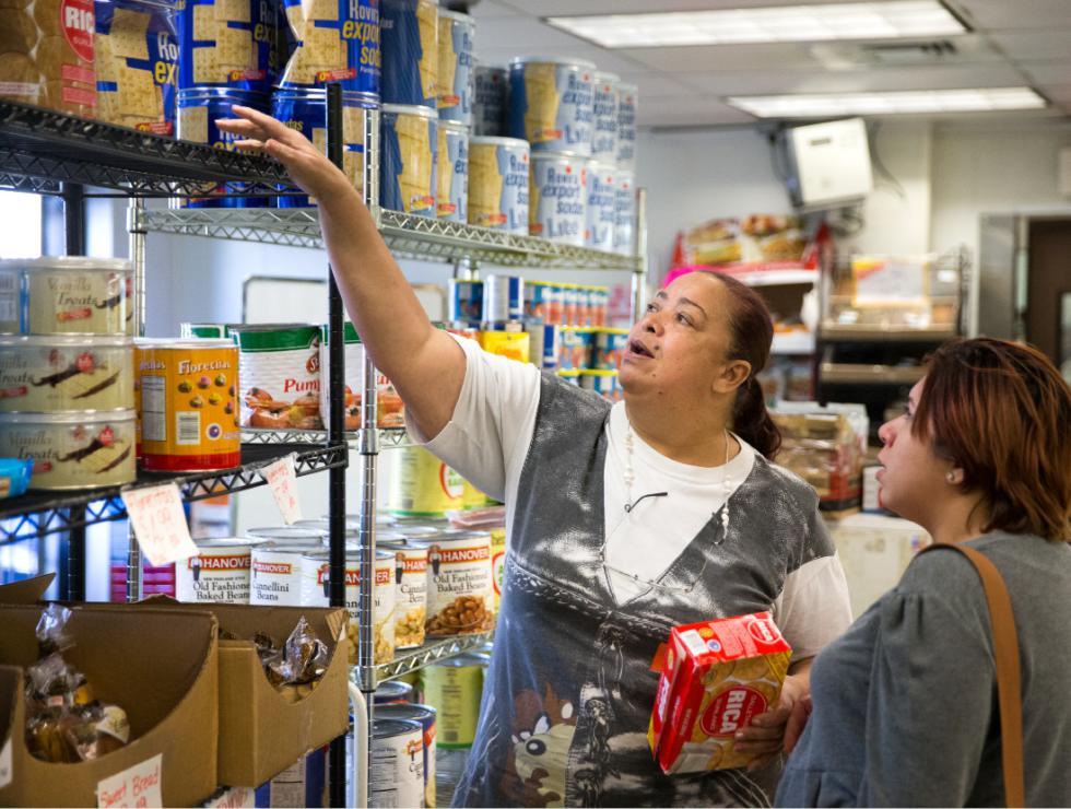 DAN LITTLE Grocery shoppers Wednesday in Springfield. - DAN LITTLE | DAN LITTLE