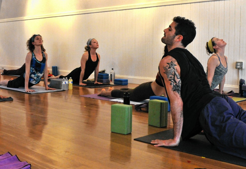 KEVIN GUTTINGBrandon Compagnone Leads An All Levels Class At Shiva Shakti Power Vinyasa Yoga On Friday