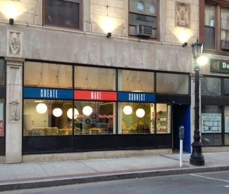 The Make-It Springfield storefront on Worthington St.