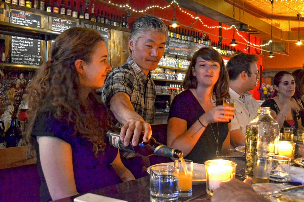 Sally Noble and Sonny Han co-own The Foundry in Northampton, one of many venues during Western Mass Beer Week. Hunter Styles Photo.