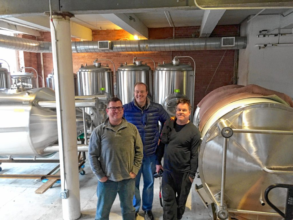 Eric Kerns and Orion Howard have teamed up with brewer Chris Post on the MASS MoCA campus. Photo courtesy of Eric Kerns.