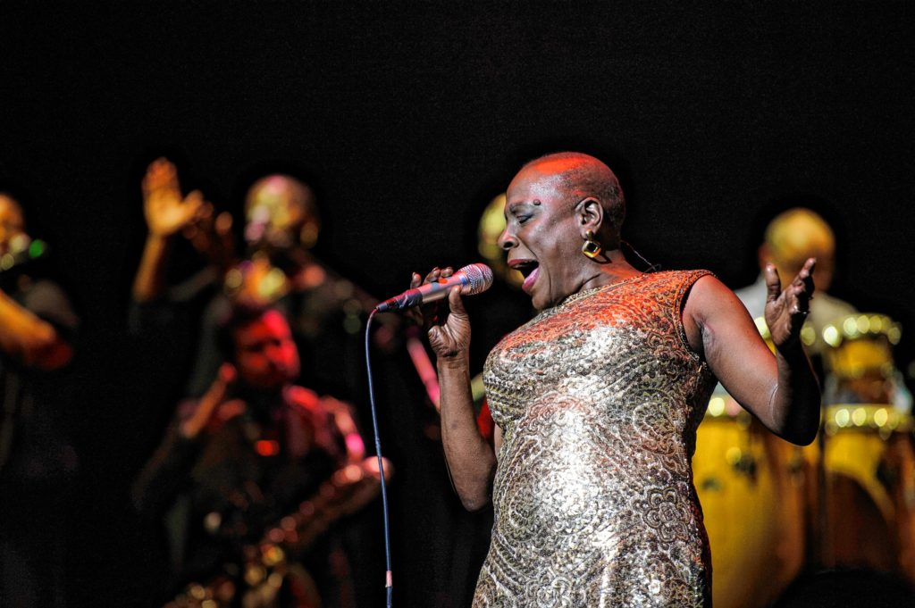 Sharon Jones and the Dap-Kings kick off their delayed 2014 tour at the Beacon Theater in New York. Jacob Blickenstaff Photo.