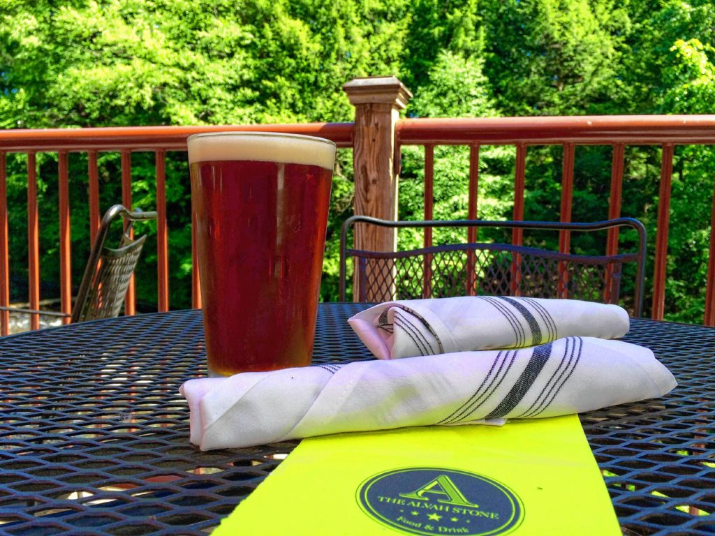 Alvah Stone Ale, on the restaurant's deck in Montague. Hunter Styles photo.