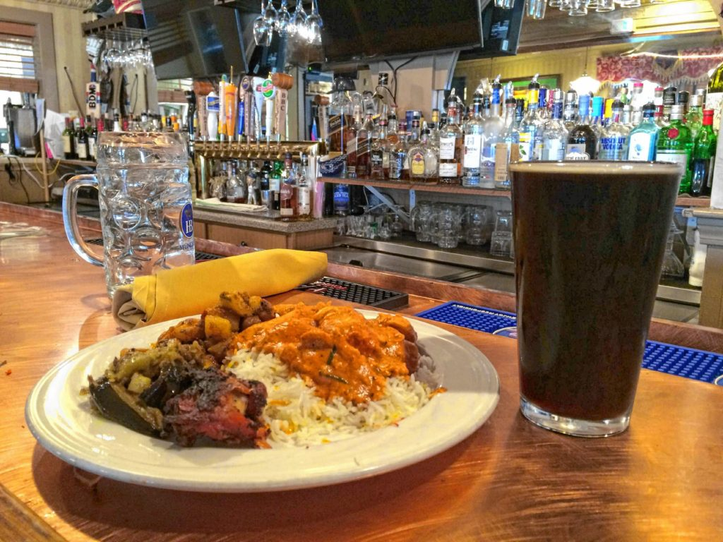 Pintu's Porter, made by BBC and served only at Pintu's Indian Restaurant in West Springfield. Hunter Styles photo.