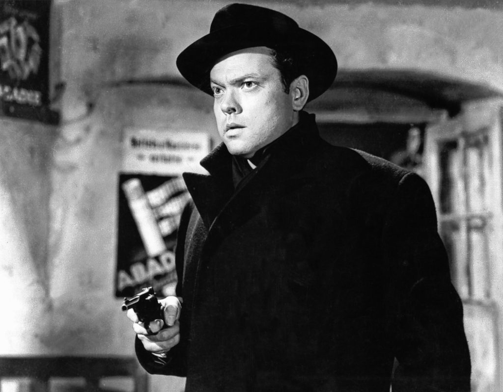 Orson Welles in THE THIRD MAN (1949). Image courtesy of Rialto Pictures / Studiocanal