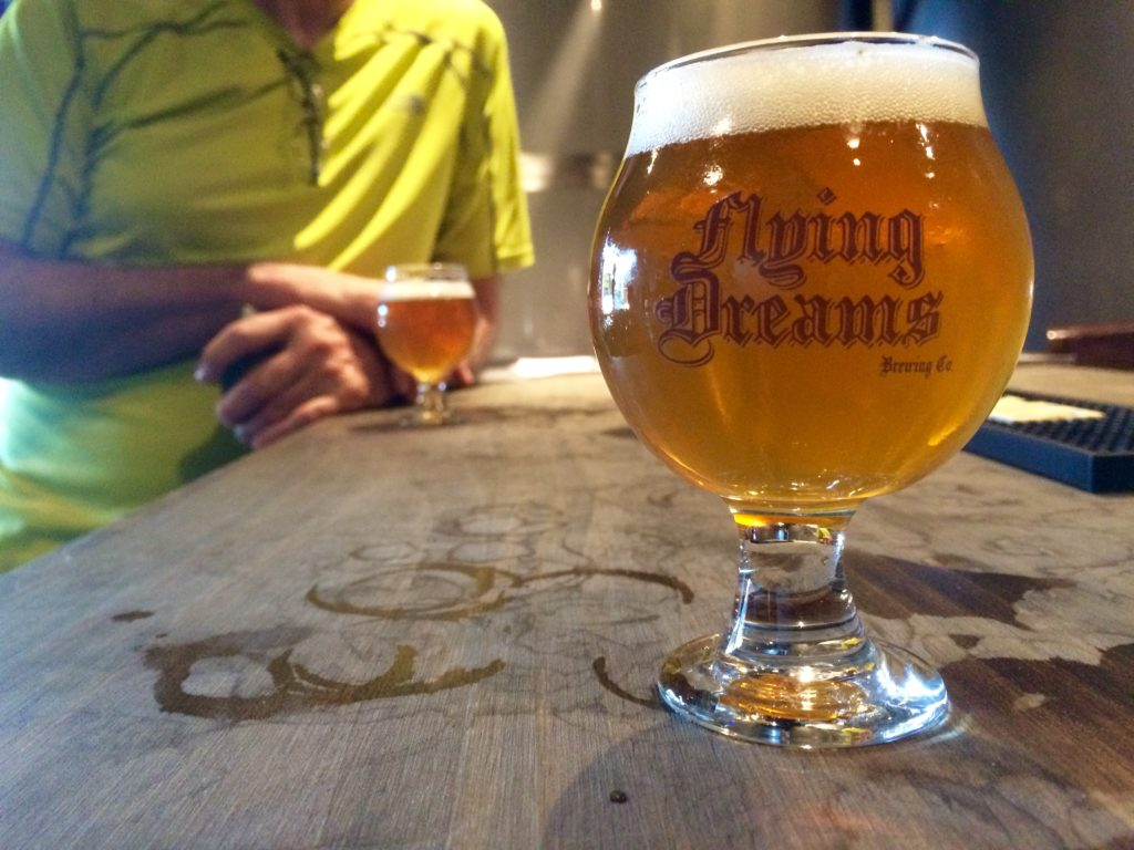 Flying Dreams, Worcester's newest brewery, opened in November 2015. Hunter Styles photo.