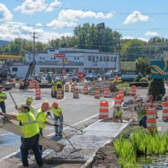 Scene Here: Keep Moving, construction on Pleasant Street in Northampton
