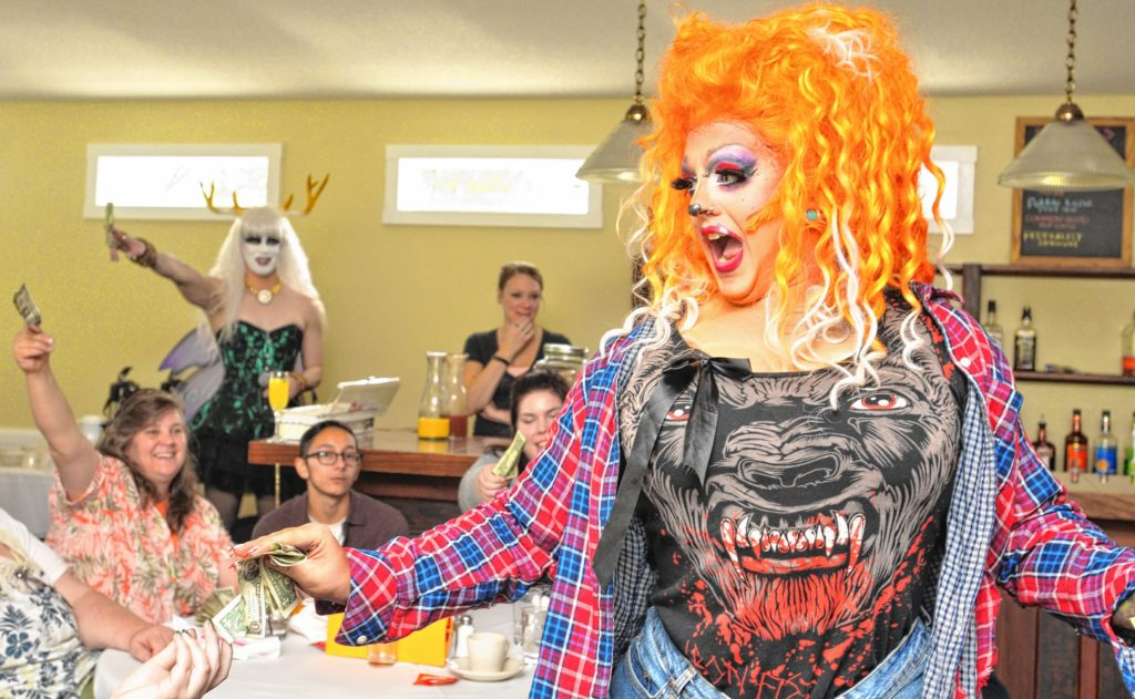 Mia E Z'Lay performs at Drag Brunch at Slainte in Holyoke. Carol Lollis photo.