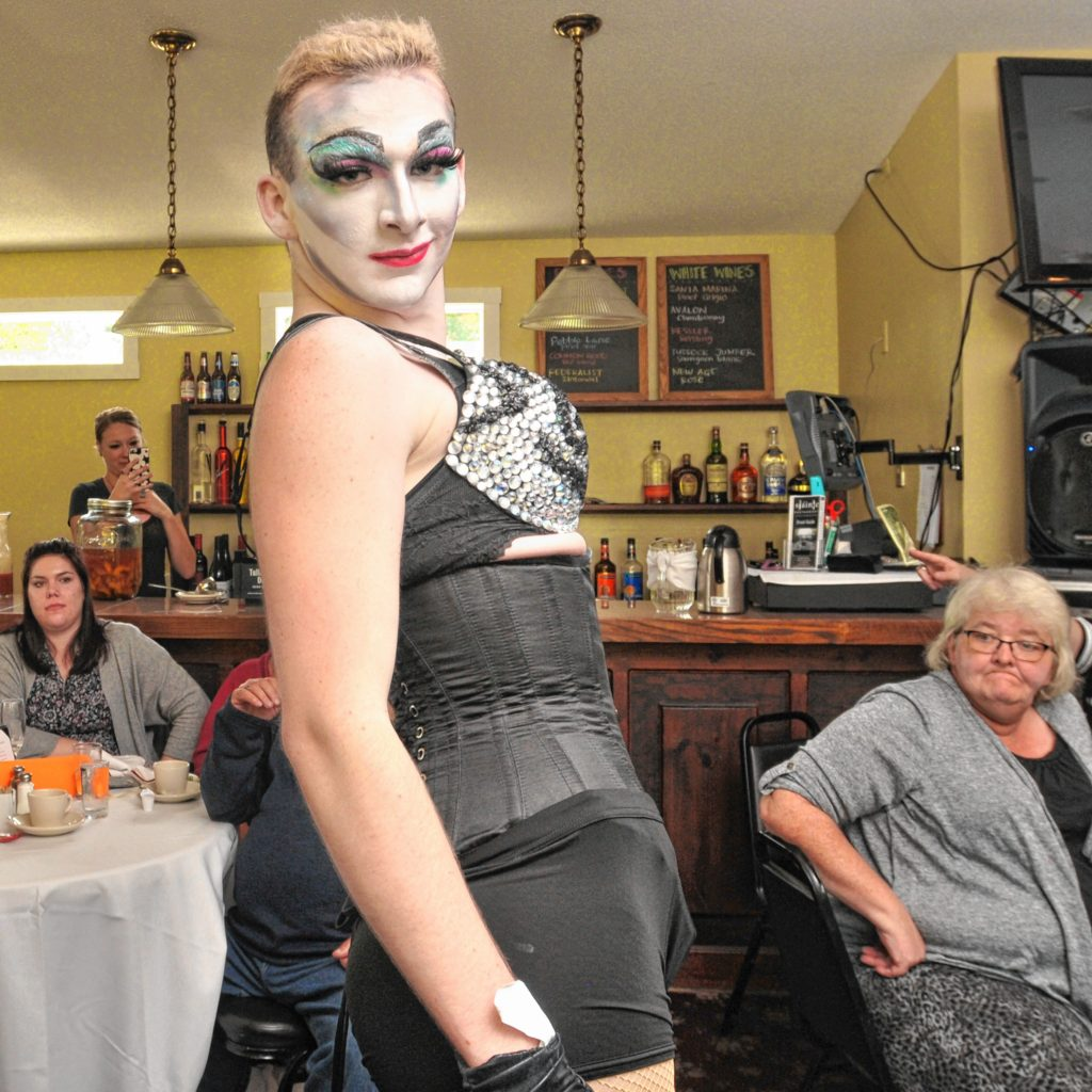 Cherry Poppins performs at Drag Brunch at Slainte in Holyoke. Carol Lollis photo.