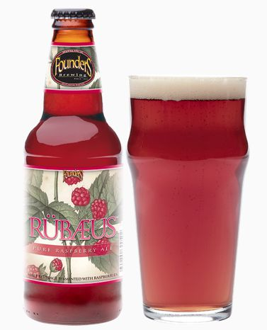 Rubaeus Raspberry Ale (by Founder's) is tart, refreshing, sweet, and natural-tasting — an American take on Framboise Lambic.