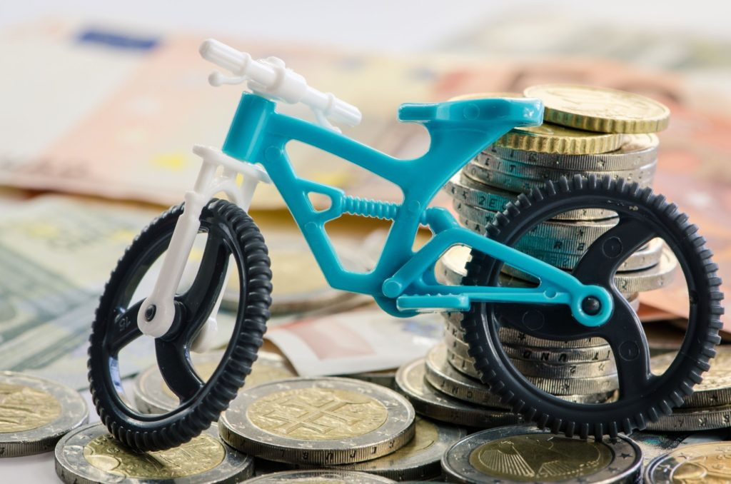 kristin palpinitoy bicycle, banknotes and coins