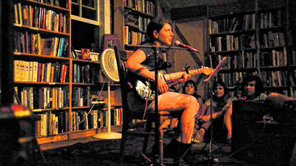 Ruth Garbus at the Montague Bookmill (via YouTube)