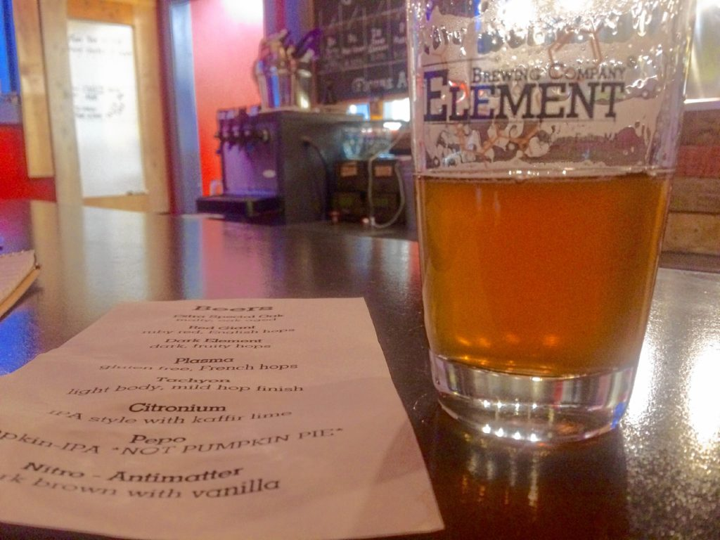 Pepo Pumpkin IPA at Element Brewing in Millers Falls. Hunter Styles photo.