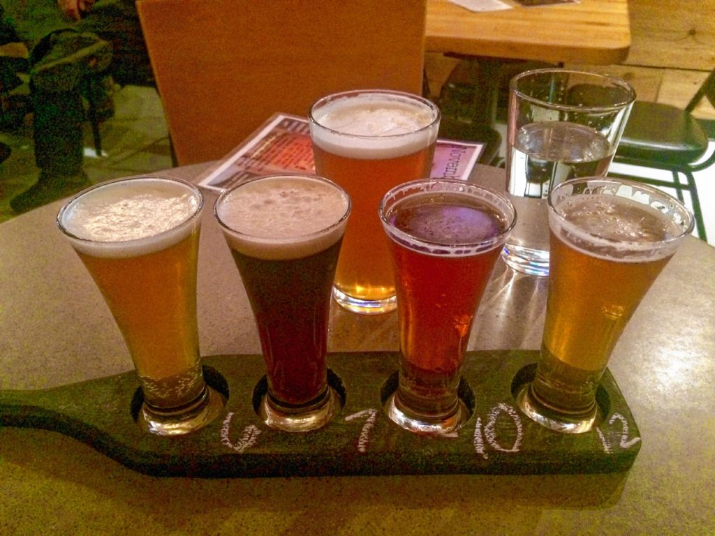 A flight of deliciousness at Powder Hollow Brewing Company in Enfield. Hunter Styles photo.