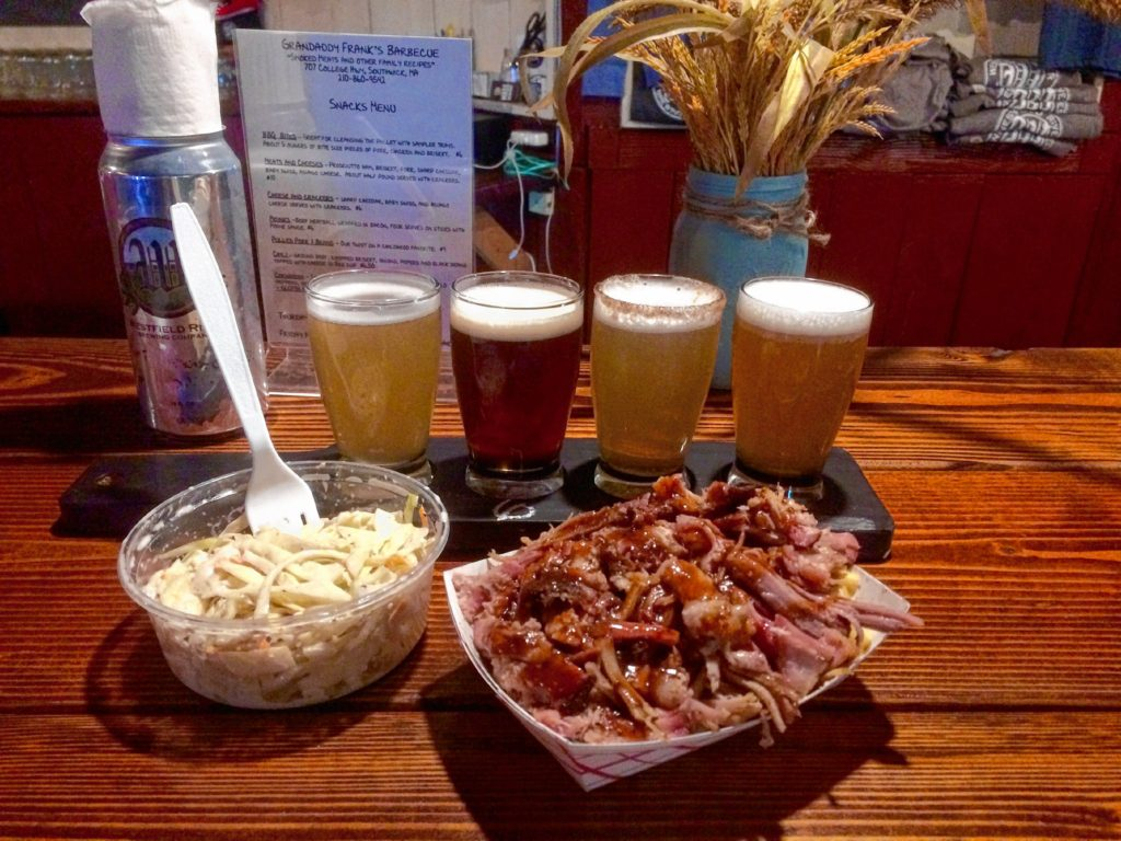 Westfield River Brewing Company in Southwick boasts barbecue pairings. Hunter Styles photo.