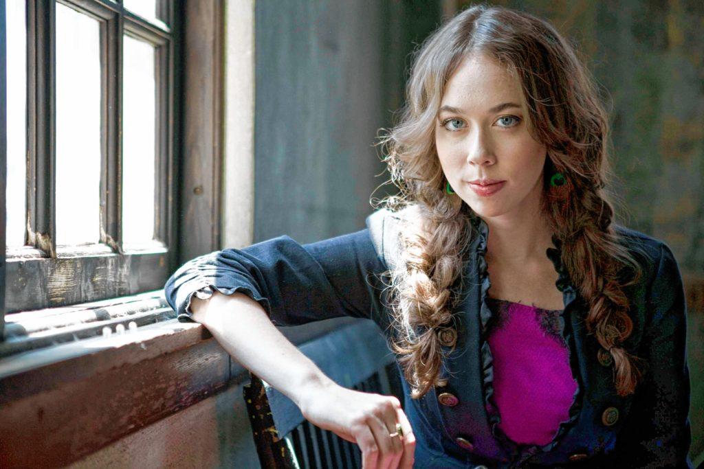 Sarah Jarosz plays the Back Porch Festival. Scott Simontacchi photo.