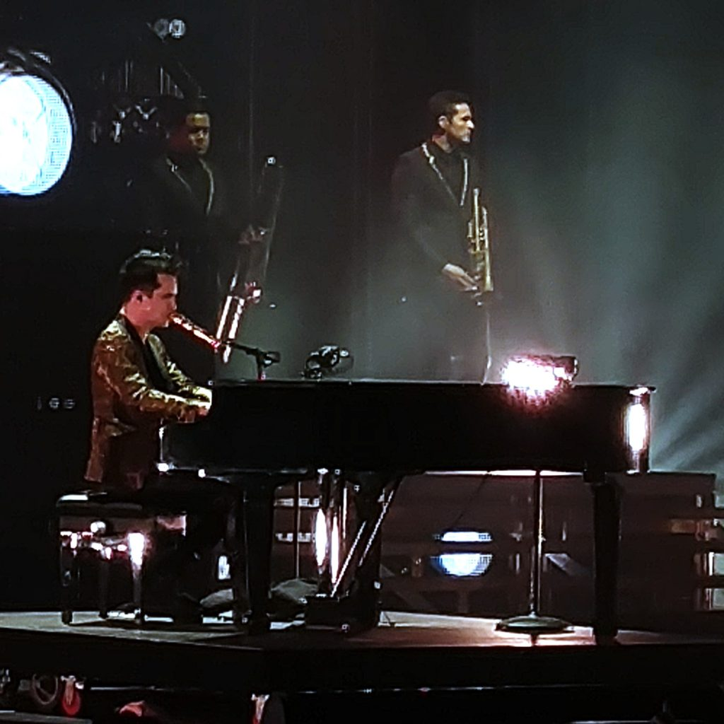 Cabaret-crooner-cum-theatrical-party-punk Brendon Urie (at piano) and his Panic! At The Disco laced their recent, sold-out Mohegan Sun 22-tune set with odes to Vaudeville, techno and covers past and present.