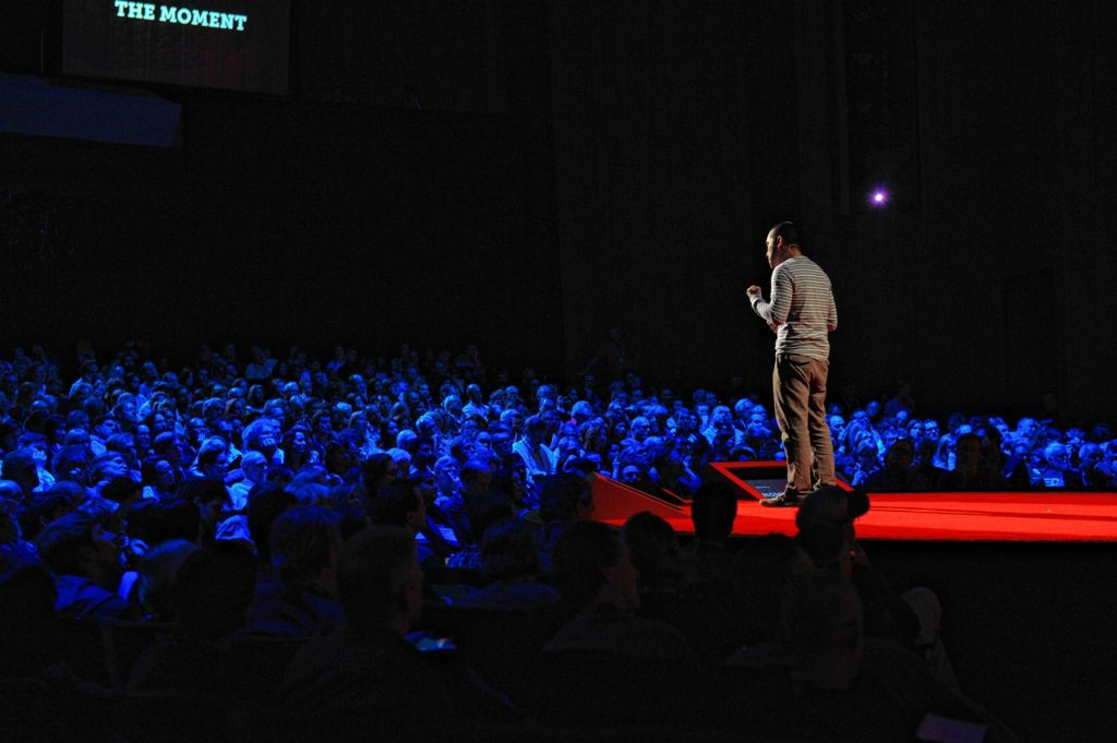 Cesar Kuriyama speaks at TED2012 - Full Spectrum. February 27 - March 2, 2012. Long Beach, CA. Photo: James Duncan Davidson / TED