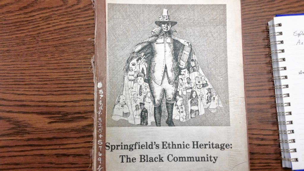 cover of a history book about black history in spfld