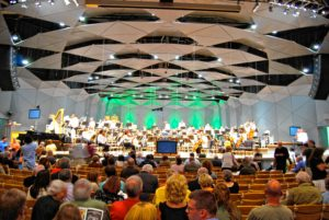 The Boston Pops performs at Tanglewood in Lenox. Wikimedia Commons image