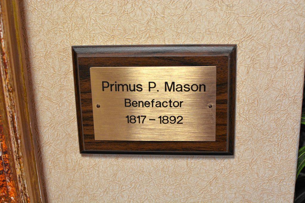 primus mason plaque