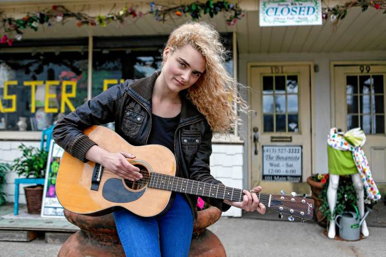 Musician Lexi Weege of Westfield is shown April 19, 2017 in front of The Botaniste in Easthampton.