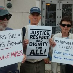 Western Mass Immigrant Rights Activists Burn Baker On ICE Bill
