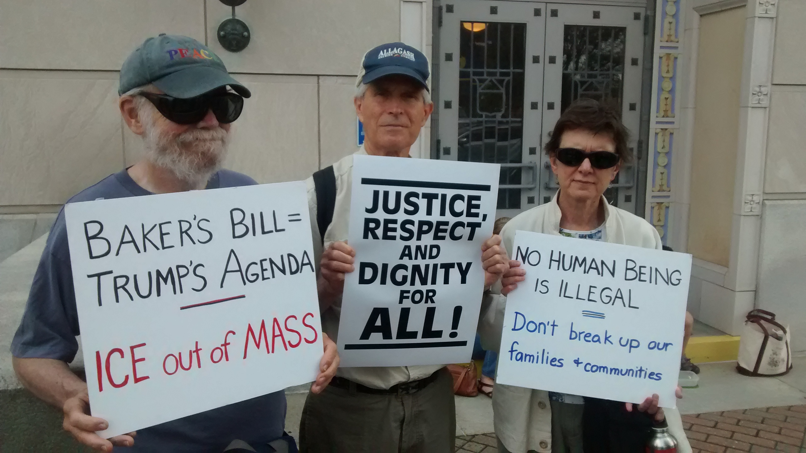 Western Mass Immigrant Rights Activists Burn Baker On Ice Bill Wiring Diagrams And Free Manual Ebooks 2009 Mercury Milan Charlie King Of Shelburne Falls Left Randy Kehler Colrain Center Candace Cassin Were Among Some The More Than 50