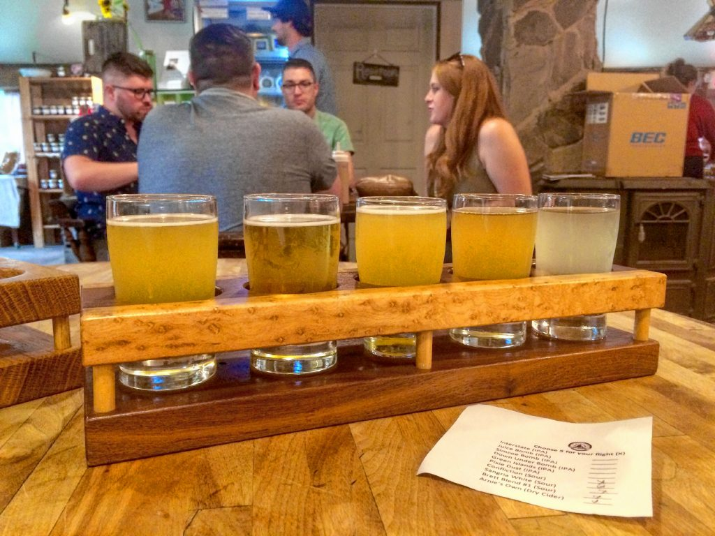 Sloop Brewing Co. is a terrific hangout, with outdoor and indoor seating, and a wide array of satisfying ales. Hunter Styles photo.