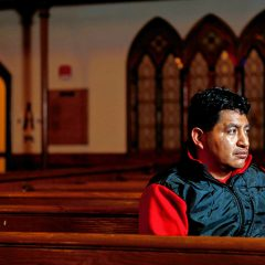 Immigrant Father takes Sanctuary in Amherst Church