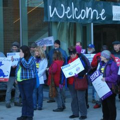 Workers rally in Greenfield in support of union rights for public employees