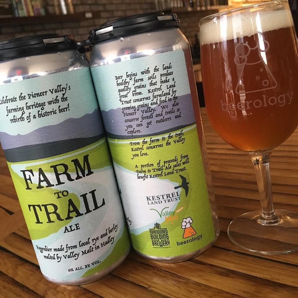 Farm to Trail Ale to benefit Kestrel Land Trust conservation of Pioneer Valley farm land and forests