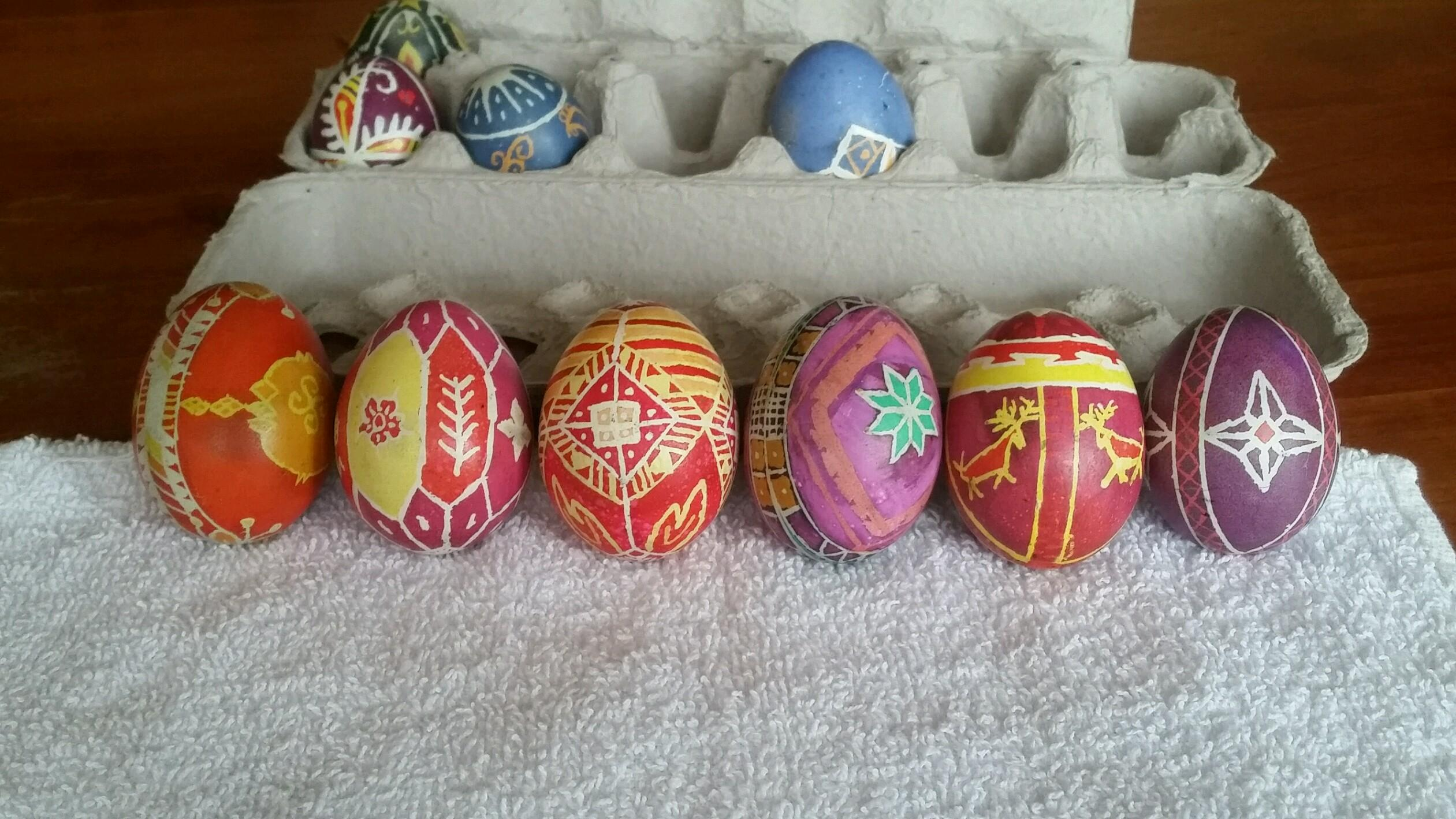 Pysanky Eggs Made By The Bantle Family While Celebrating Orthodox Easter Tradtitions Photo Courtesy Of Tammy