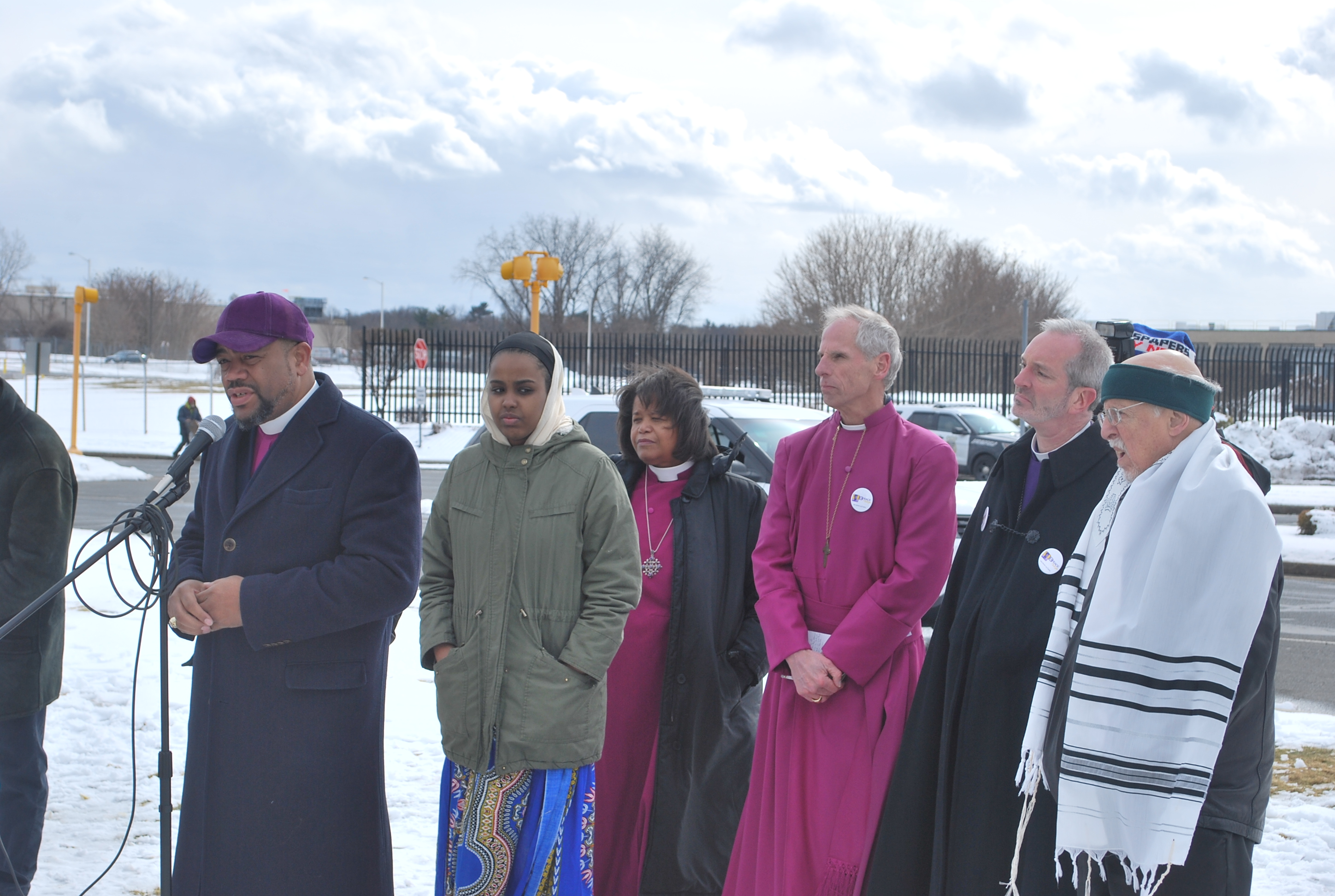 Amid school walkouts protesters in springfield demand meeting about talbert swan ii pastor of spring of hope church of god in christ in springfield left and other faith leaders rallied behind students calling for a fandeluxe Images