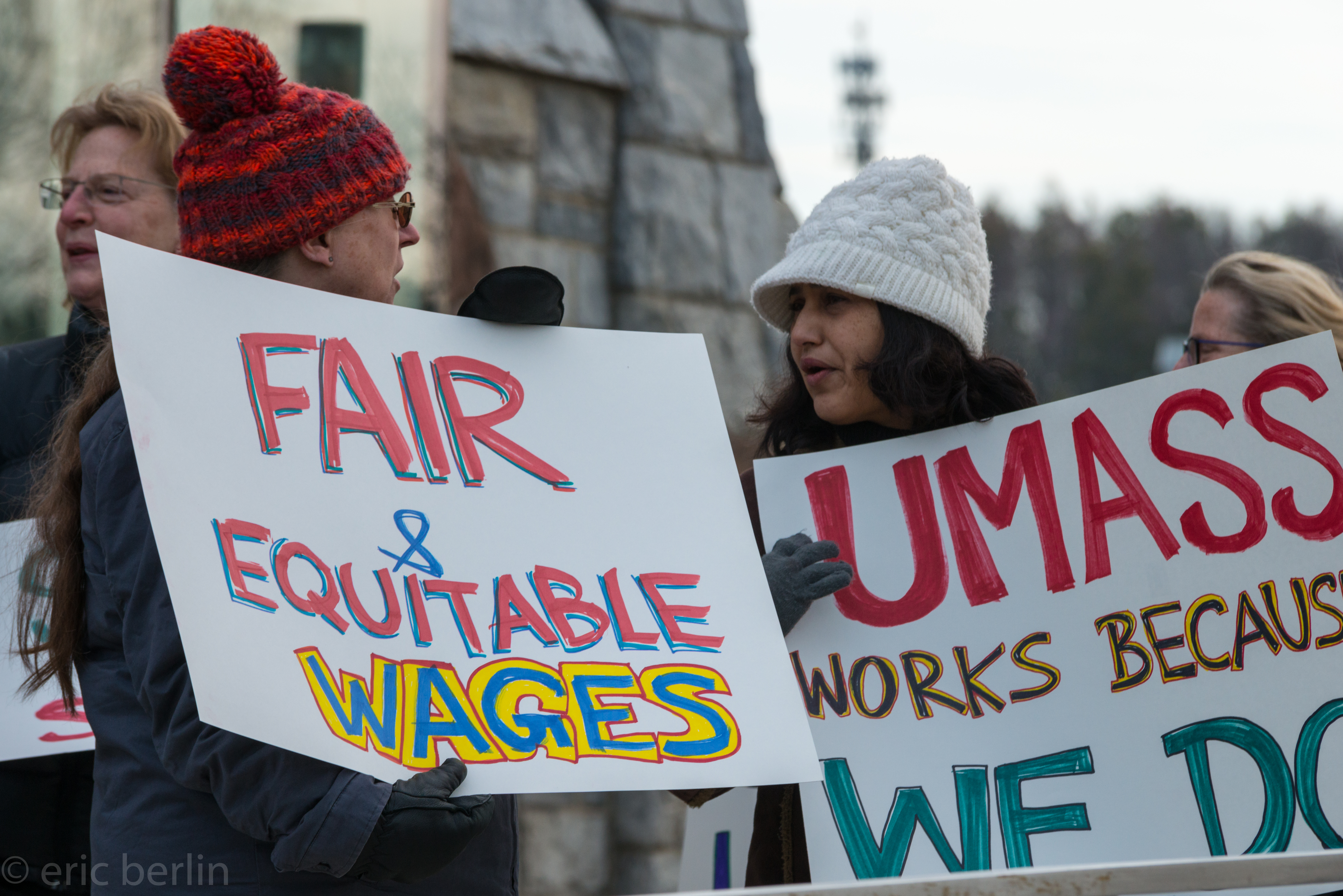 UMass unions take contract demands to trustees