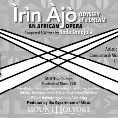 Pick of the Day 4/12: Irin Ajo at Mount Holyoke College