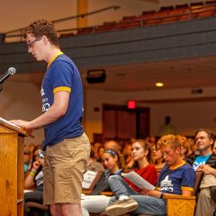 Students ask the questions at Northampton High School event for state rep and senate candidates