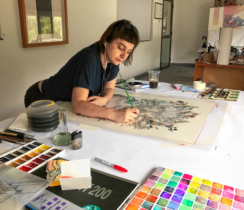 Amherst'sAndrea Dezsöworks across different media, public art spaces — and the world