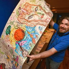 Longmeadow artist Max Rudolph wants you to draw in his community-wide giant coloring book project