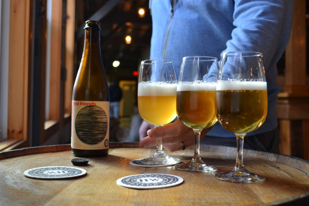 Real Friends, a limited-series grisette beer from Honest Weight Artisan Beer in Orange, was aged in oak barrels for ten months. Hunter Styles photo.