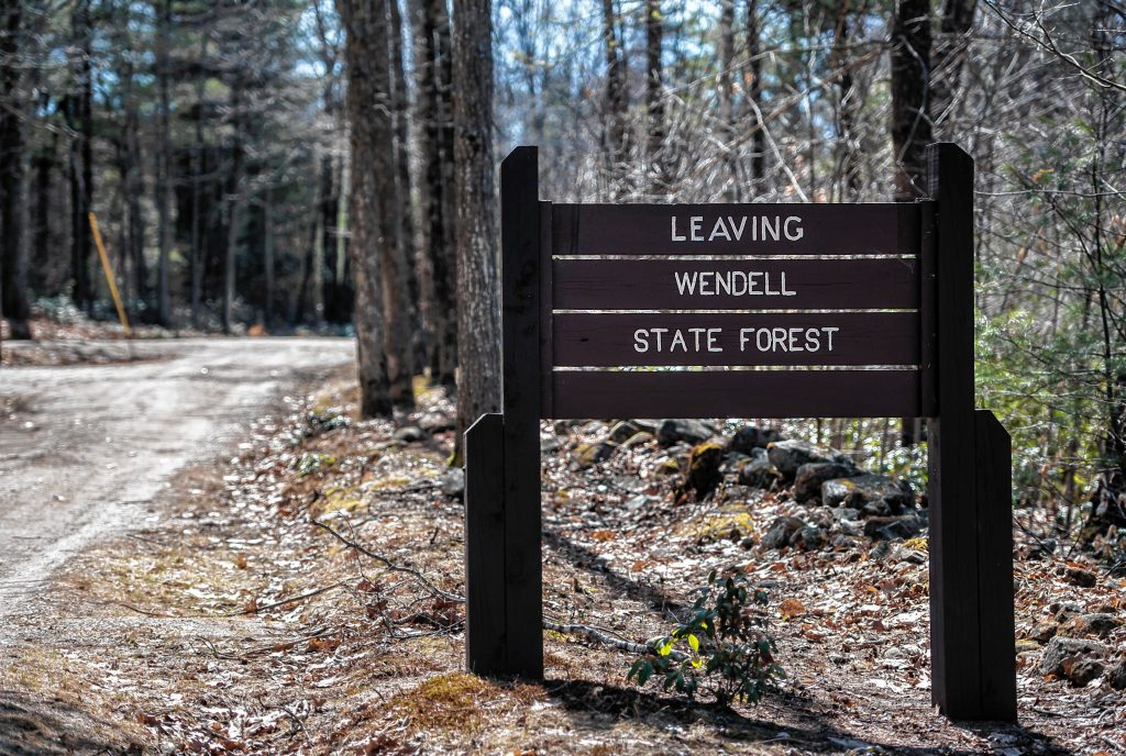 Access point to Wendell State Forest on Laurel Drive near Wickett Pond Road. Photographed on Thursday, April 4, 2019.