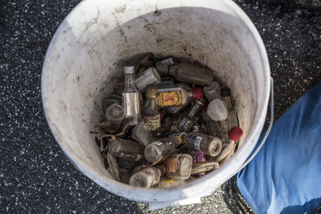 Mini Bottles — MEGA MESS: Agawam man on a daily quest to get trash