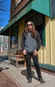 Jonathan Donais, who plays in the bands Anthrax and Shadows Fall, at the Brass Cat in Easthampton, Wednesday, April 17, 2019.