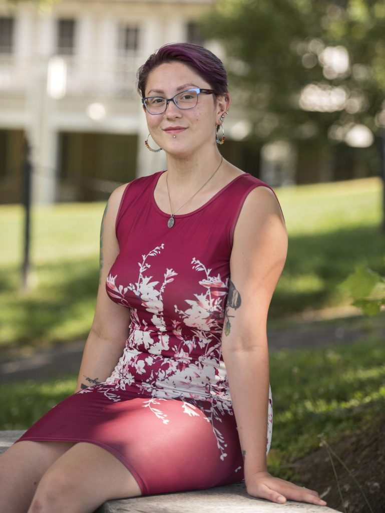 Gina Napolitano of Connecticut is a 2016 alumna of the MacDuffie School in Granby and is a rising senior at Wheaton College. Photographed Saturday, July 13, 2019, in Northampton.