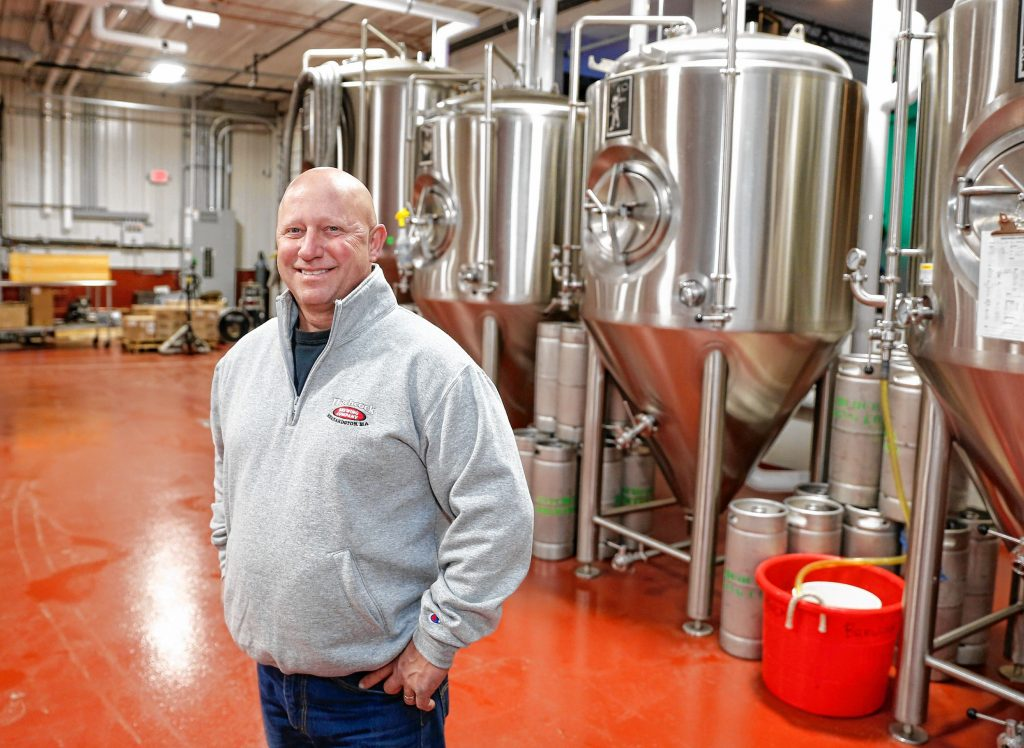 Hitchcock Brewing Company owner Rich Pedersen stands for a photo at the newly opened brewery and taproom at  203 South St. in Bernardston.