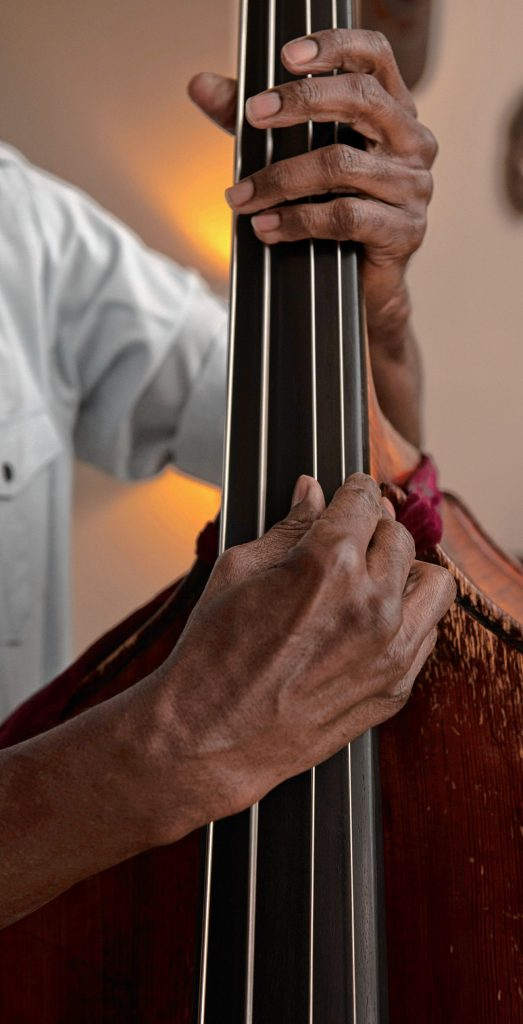 Sharpe is an acclaimed bassist who has played and recorded with a host of jazz legends, from McCoy Tyner to Wynton Marsalis.